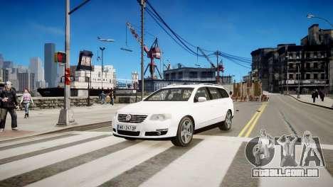 Volkswagen Passat Variant 2010 V1 para GTA 4 esquerda vista