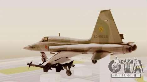Northrop F-5E Tiger II JASDF para GTA San Andreas vista direita