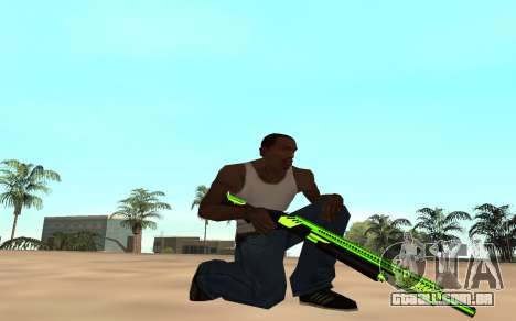 Green chrome weapon pack para GTA San Andreas por diante tela