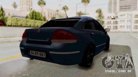 Fiat Linea 2011 para GTA San Andreas esquerda vista