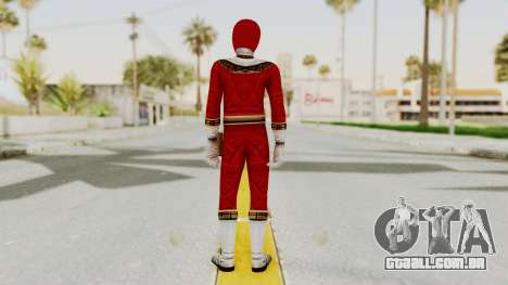 Power Ranger Zeo - Red para GTA San Andreas terceira tela