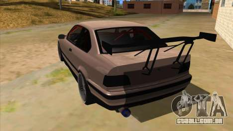 BMW M3 Drift Missile para GTA San Andreas traseira esquerda vista