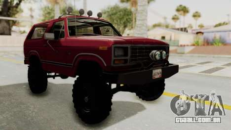 Ford Bronco 1985 Lifted para GTA San Andreas
