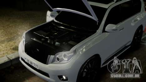 Toyota Land Crusier Prado 150 para GTA 4 vista inferior