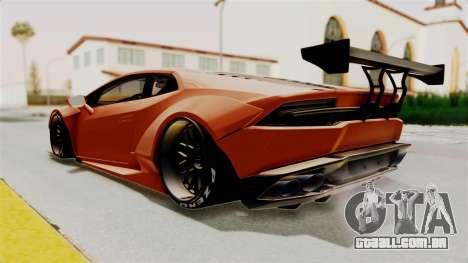 Lamborghini Huracan Libertywalk Kato Design para GTA San Andreas vista direita