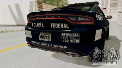 Dodge Charger RT 2016 Federal Police para GTA San Andreas vista inferior