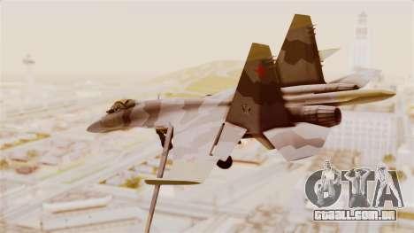 SU-27 Hydra para GTA San Andreas esquerda vista