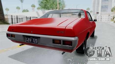 Holden Monaro GTS 1971 AU Plate HQLM para GTA San Andreas esquerda vista