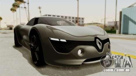 Renault Dezir Concept para GTA San Andreas traseira esquerda vista