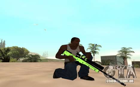 Green chrome weapon pack para GTA San Andreas segunda tela