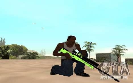 Green chrome weapon pack para GTA San Andreas segunda tela