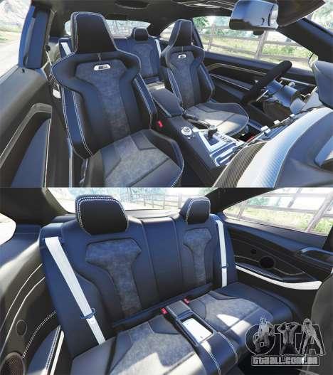 GTA 5 BMW M4 GTS vista lateral direita
