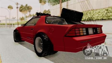 Chevrolet Camaro 1990 IROC-Z Rusty Rebel para GTA San Andreas traseira esquerda vista