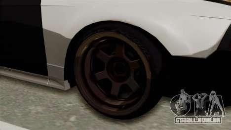 Ford Mustang 1999 Drift para GTA San Andreas vista traseira
