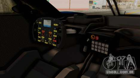 Ford GT 2016 LM para GTA San Andreas vista interior