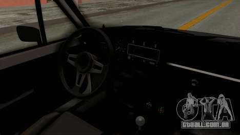 Volkswagen Golf 1 para GTA San Andreas vista interior