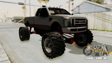 Ford F-350 Super Duty Monster Truck para GTA San Andreas esquerda vista