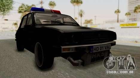 Dacia 1310 TX Turbo Police para GTA San Andreas vista direita