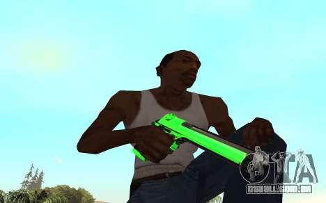Green chrome weapon pack para GTA San Andreas