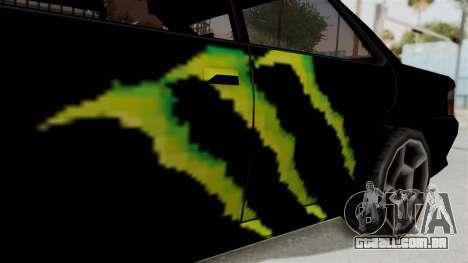 Monster Sultan para GTA San Andreas vista traseira