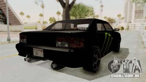 Monster Sultan para GTA San Andreas traseira esquerda vista