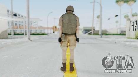MGSV Phantom Pain CFA Vest v2 para GTA San Andreas terceira tela