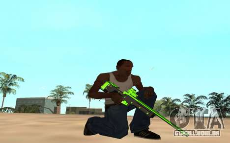 Green chrome weapon pack para GTA San Andreas sexta tela