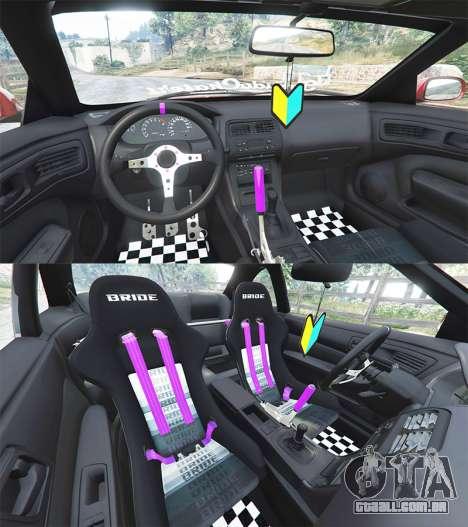 GTA 5 Nissan Silvia S14 Zenki Stance traseira direita vista lateral