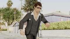 Scarface Tony Montana Suit v2 with Glasses para GTA San Andreas