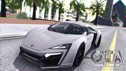 A W Motors, Lykan hypersport 2015 HQ para GTA San Andreas