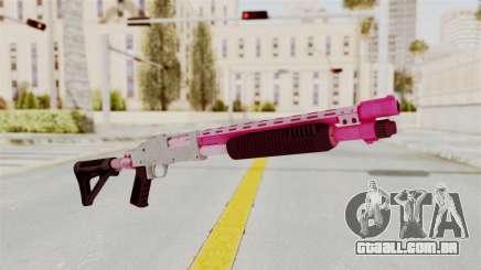 GTA 5 Pump Shotgun Pink para GTA San Andreas