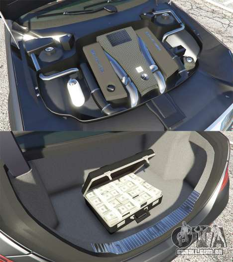 GTA 5 Mercedes-Benz S500 (W222) [michelin] v2.1 vista lateral direita