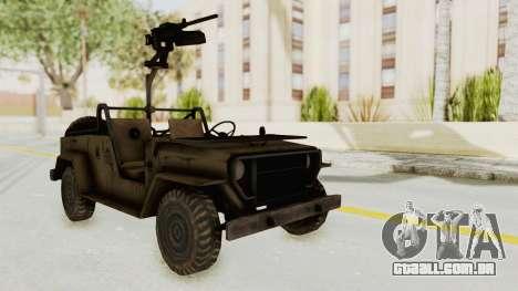 MGSV Jeep para GTA San Andreas vista direita