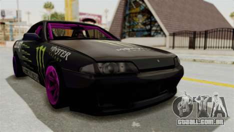 Nissan Skyline R32 Drift Monster Energy Falken para GTA San Andreas vista direita