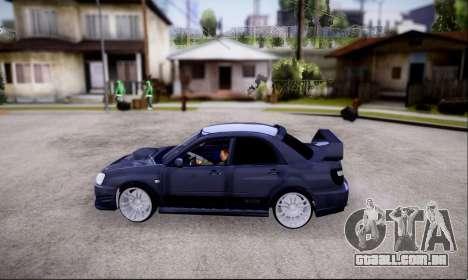 Subaru impreza WRX STi LP400 v2 para GTA San Andreas vista direita