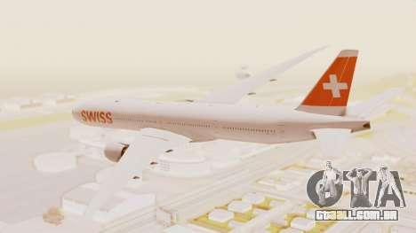 Boeing 777-300ER Swiss International Air Lines para GTA San Andreas esquerda vista