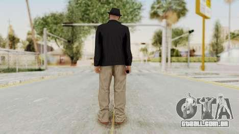 Walter White Heisenberg v1 GTA 5 Style para GTA San Andreas terceira tela