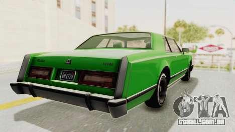 GTA 5 Dundreary Virgo Classic Custom v1 para GTA San Andreas esquerda vista