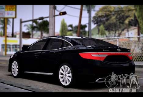 Hyundai Grandeur 2015 STOCK para GTA San Andreas esquerda vista