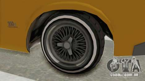 GTA 5 Declasse Sabre GT2 A IVF para GTA San Andreas vista traseira