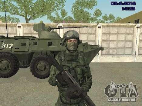 Modern Russian Soldiers pack para GTA San Andreas por diante tela