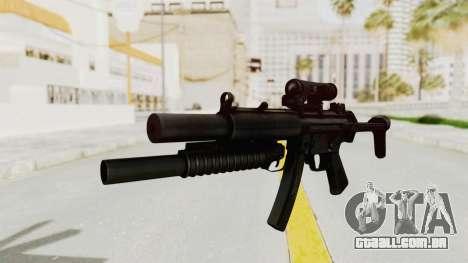 MP5SD with Grenade Launcher para GTA San Andreas