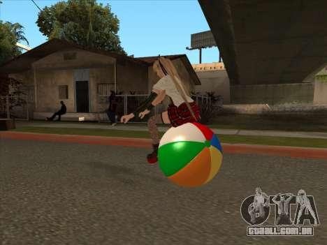 Beachball para GTA San Andreas vista traseira