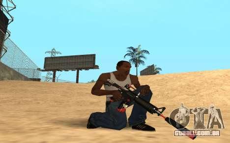 M4 Cyrex para GTA San Andreas segunda tela