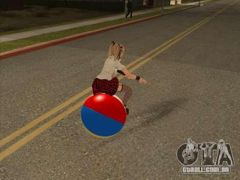 Beachball para GTA San Andreas traseira esquerda vista