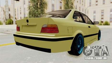 BMW M3 E36 Drift para GTA San Andreas esquerda vista