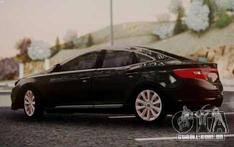 Hyundai Grandeur 2015 STOCK para GTA San Andreas vista direita