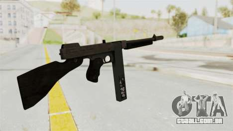 GTA 5 Gusenberg Sweeper Custom para GTA San Andreas segunda tela