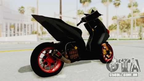 Honda Vario Concept 200CC para GTA San Andreas traseira esquerda vista