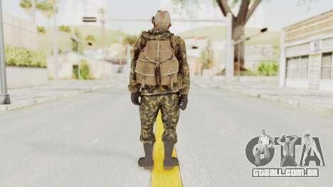 COD Black Ops Russian Spetznaz v6 para GTA San Andreas terceira tela